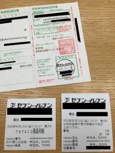 自動車税 nanaco払い