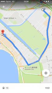 ザ・バス ルート(GoogleMap)