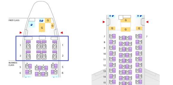 ANA 777-300ER シートマップ ファーストクラス