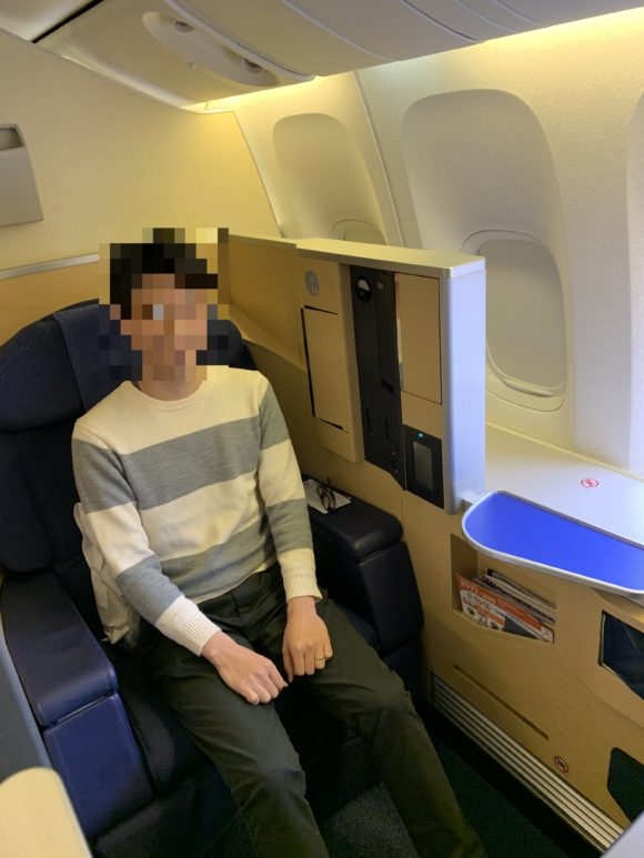 ANAファーストクラス 2018年 NH174 (成田~ヒューストン) 搭乗5