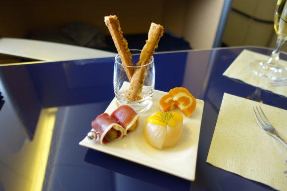 ANAファーストクラス 2018年 NH174(成田~ヒューストン) 機内食 アミューズ