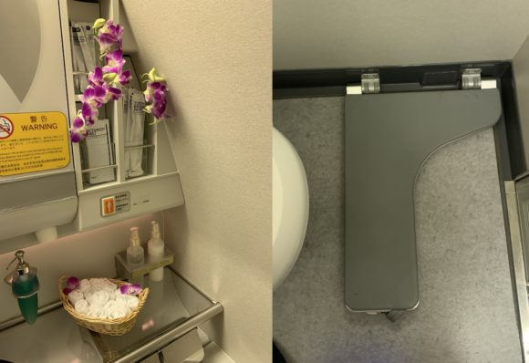 ANAファーストクラス 2018年 NH174(成田~ヒューストン) トイレ