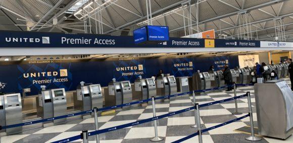 シカゴ・オヘア空港 第1ターミナル ユナイテッド航空 空港カウンター