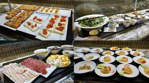 ユナイテッド・ポラリス・ラウンジ シカゴ・オヘア空港 食事(ブッフェ) 前菜